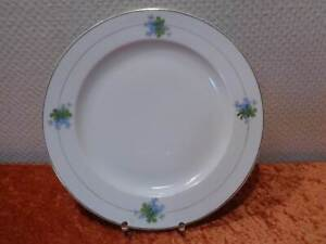 Estilo-Moderno-Porcelana-Placa-Plato-Vintage-Um-1900-Trebol-Nomeolvides