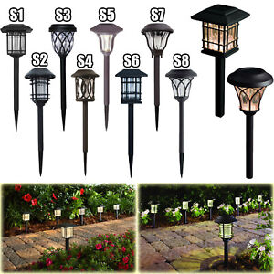 Details About Outdoor Solar Led Pathway Lights Walkway Garden Landscape Path Lighting 6 Pack