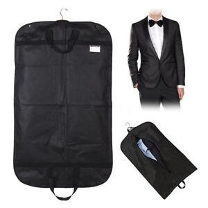 Black-40-034-x24-034-Large-Suit-Carrier-Garment-Cover-Travel-Bag-Strong-Nylon-Foldable