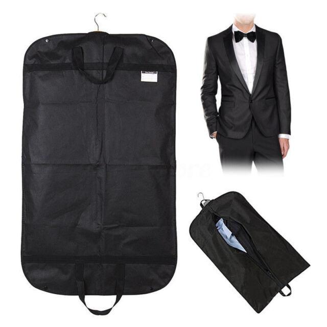 "Black 40""x24"" Large Suit Carrier Garment Cover Travel Bag Strong Nylon Foldable"