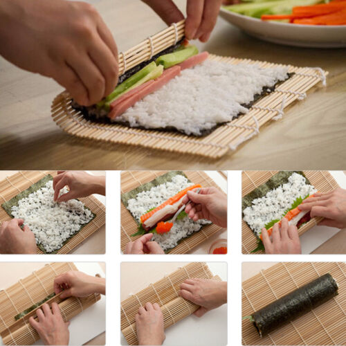 Bamboo Healthy Sushi Roll Mat California Roll 9.5 Inches US