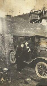 West-Virginia-Family-Posing-with-Antique-Car-Kentucky-Appalachia-Antique-Photo