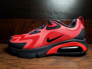 Nike Air Max 200 Black Habanero Red