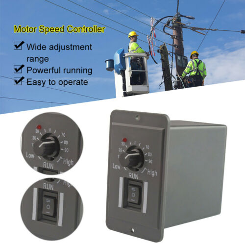 12//24// 36//48V 6A PWM DC Motor Speed Controller Adjustable Switch Regulator f1