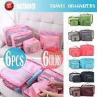 6Pcs Waterproof Travel Storage Bag Clothes Packing Cube Luggage Organizer XP