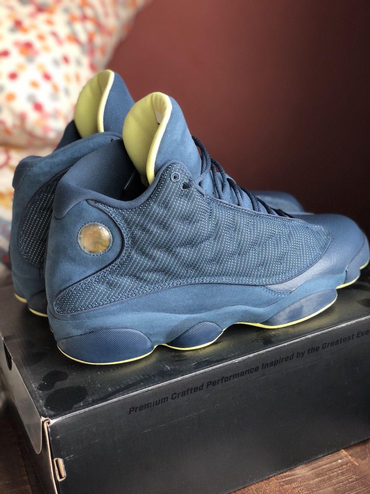 Nike air jordan 13 la squadra blu, scarpe taglia 12 - 13 - leggermente usato con ricevuta