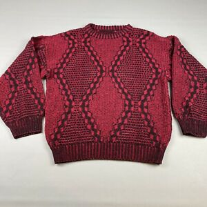 Vintage-rot-schwarz-COOGI-Stil-AUF-SEE-MUNITIONSKISTE-Pullover-Biggie-Bill-Cosby-Groesse-Large