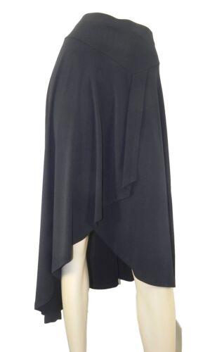 Marks /& spencer noir crêpe cross over jupe avec tulipe front /& drop ourlet