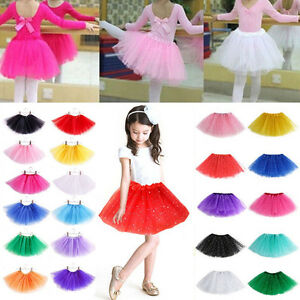 0613971d2647 New KIDS Girls Dancewear Ballerina Ballet Tutu Princess Skirts Fancy ...