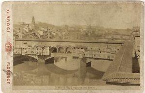 Firenze-Ponte-Vecchio-Italia-Foto-PL17c2n48-Cartolina-Armadio-Vintage-Albumina
