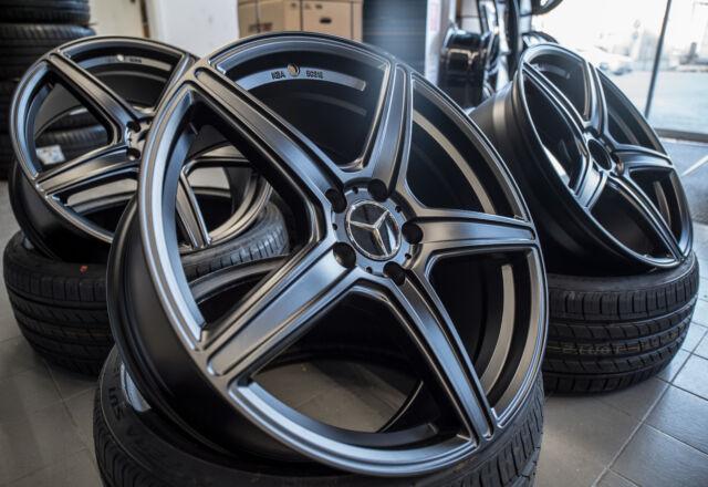 19 Zoll Axxion AX7 Felgen 5x112 et45 schwarz poliert Audi VW Skoda Seat GTI S3