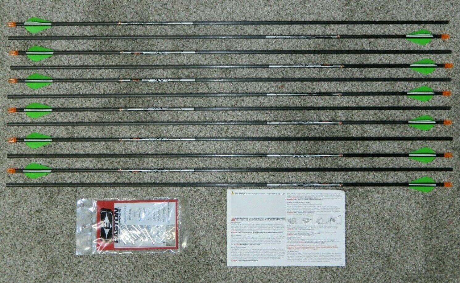 New Easton 5MM Axis Small Diameter Carbon 400 Arrows 1 Dozen Shafts