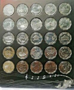 2013-2014-Sri-Lanka-25-Coin-Set-10-Rupees-District-Series-Uncirculate-UNC-SCARCE
