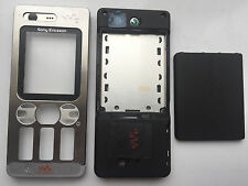 Sony Ericsson W880 W880i Front Fascia Back Housing Battery Cover Silver