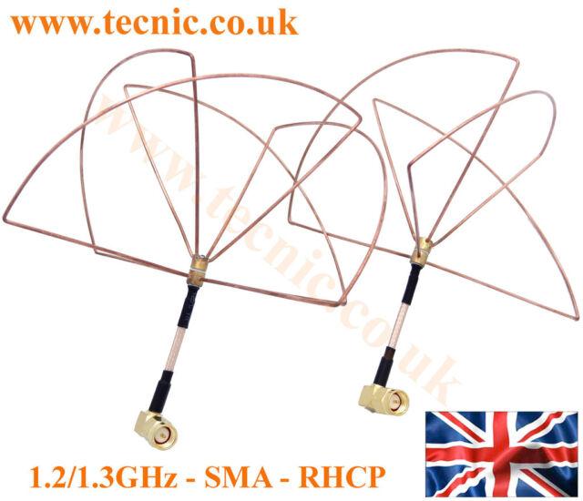1.2Ghz FPV Antenna Set Skew Planar and Clover RP-SMA and SMA