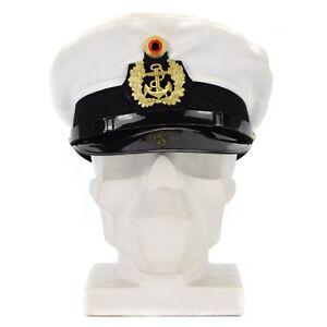 3ff2730ba19 Original BW German army officers marines cap visor forage peaked hat ...