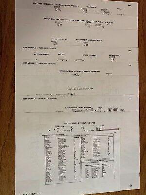 1984-1986 JEEP CJ7 FACTORY WIRING DIAGRAMS (COPIES) | eBay