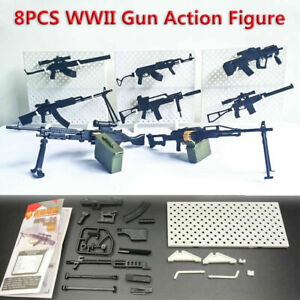 1-8pcs-1-6-WWII-Rifle-Machine-Gun-Model-Puzzles-Building-Action-Figure