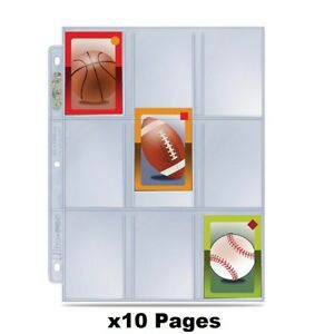 x10 Ultra Pro Premium Hologram Platinum Series 9 Pocket Trading Card Pages