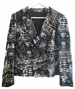 Topshop-Relaxed-Blazer-Jacket-Monochrome-Black-White-Graphic-Print-Work-12-40