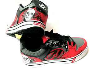 the latest bd169 d9b77 Details zu Heelys Motion Plus Red/Black/Grey/Skulls Schuh mit Rollen  Heelies Gr. 38