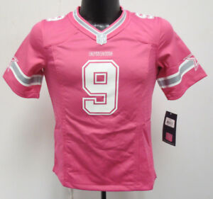quality design 8276d fd0fe Details about TONY ROMO NIKE JERSEY PINK YOUTH GIRLS PRINTED NFL FOOTBALL  DALLAS COWBOYS $70