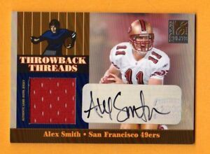 39da42232 Image is loading ALEX-SMITH-2006-ELITE-THROWBACK-THREADS-AUTOGRAPH-JERSEY-