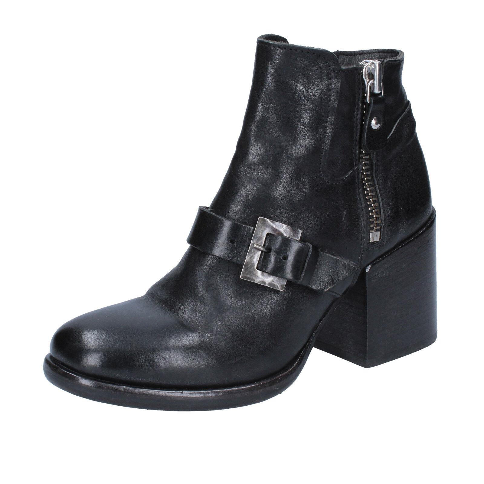 Zapatos señora moma 37 UE botines de cuero negro by662