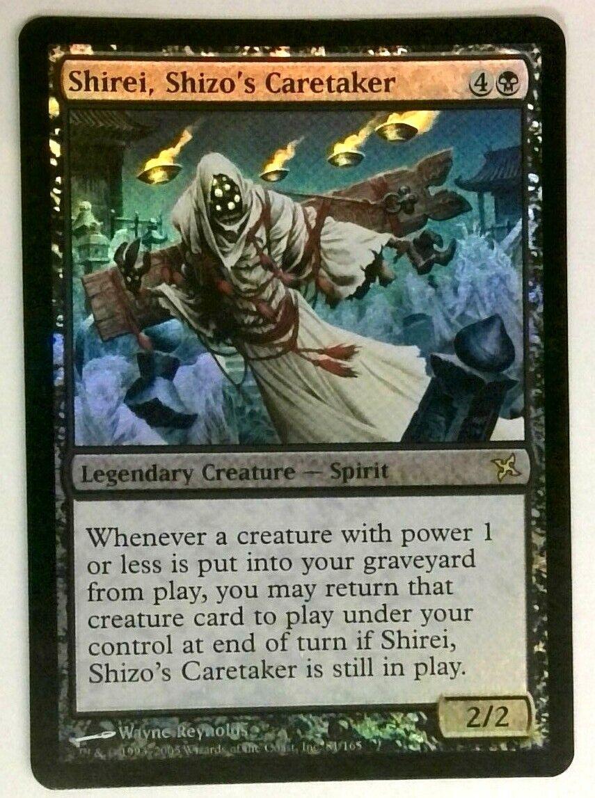 SHIZO/'S CARETAKER Betrayers of Kamigawa MTG Black Creature — Spirit RARE SHIREI