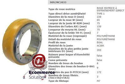 ROUE MOTRICE JUNGHEINRICH VULKOLLAN SWIFT EMC EMB 110 GERBEUR 230 80 mm PIECE