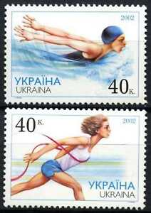 Ukraine-2002-SG-425-6-Sportsmen-MNH-Set-D72882