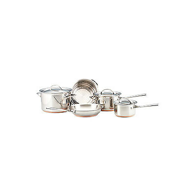 NEW Essteele Per Vita Stainless Steel Copper 5 Piece Cookware Set: Made in Italy