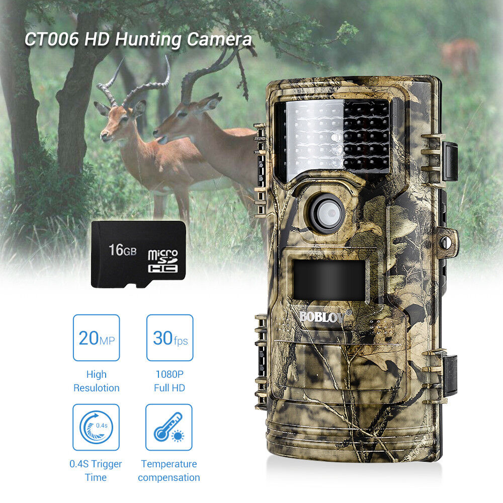 Hunting Trail Camera  20MP 1080P IR Infrared Security Camera + 16GB + 3xBelts  creative products