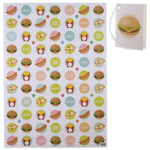 Image Is Loading Fast Food Emoji Wrapping Paper Amp Tag Recyclable