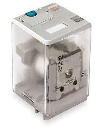 Dayton 1Eje4 Plug In Relay,11 Pins,Square,12Vdc