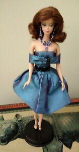 Barbie Silkstone Trace Of Lace Relookée Tenue Bijoux