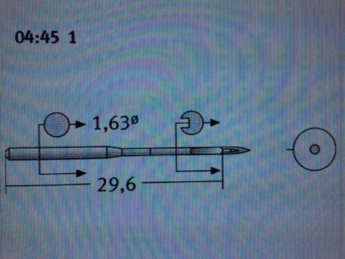 SCHMETZ DAX1 CANU:04:45 1 NM:90 SIZE:14 1128 INDUSTRIAL SEWING MACHINE NEEDLES
