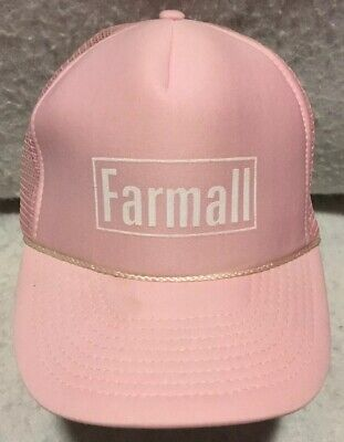 Farmall Tractor Pink Mesh Back Trucker Hat With Free Shipping NWT $9.95 Sale!
