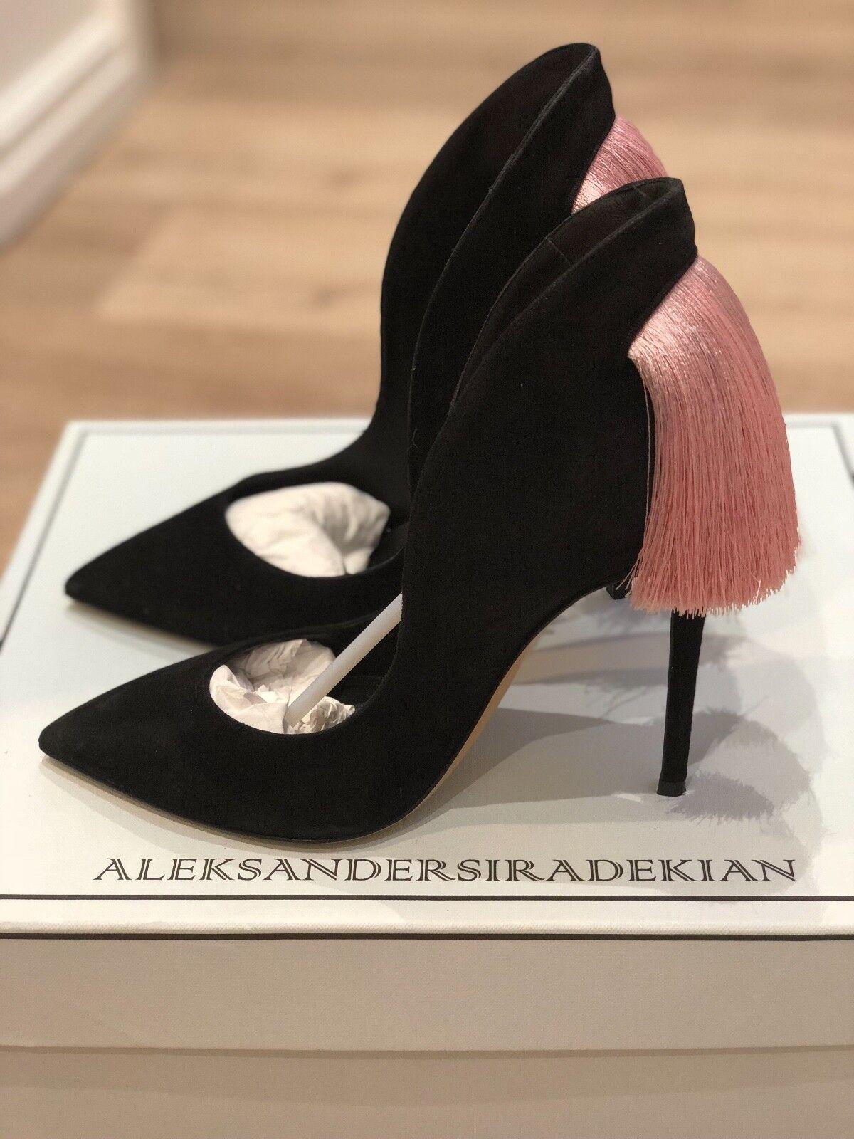 Aleksander Siradekian black shoes with pink tassel size Eu 37