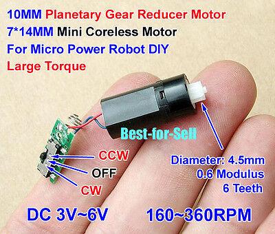 DC 3V~6V 5V 10MM Mini Coreless Motor Planetary Gear Reducer Motor for Robot DIY