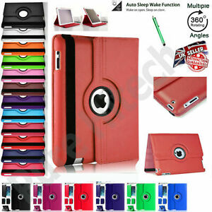 Leather 360 Rotating Smart Stand Case Cover For Apple iPad 10.2 MINI AIR 4 PRO