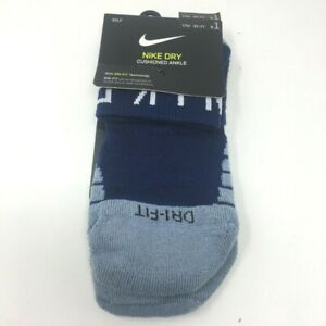 Details about Nike Dry Cushioned Ankle Golf Socks Youth Sz M 5Y-7Y Blue  Light Blue NEW