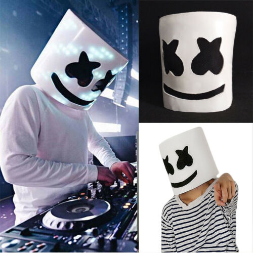 MarshMello DJ Mask Full Head Helmet Halloween Xmas Cosplay Mask Bar Music Party