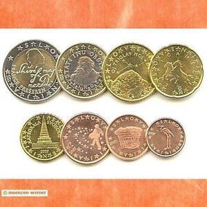 Kursmünzensatz Slowenien 2007 1c 2 Euromünzekms Alle 8 Münzen Satz