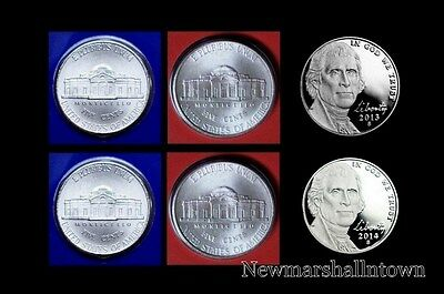 2013 P+D Lincoln Jefferson Roosevelt Mint Set ~ Lot of Six Coins ~ No S Proof
