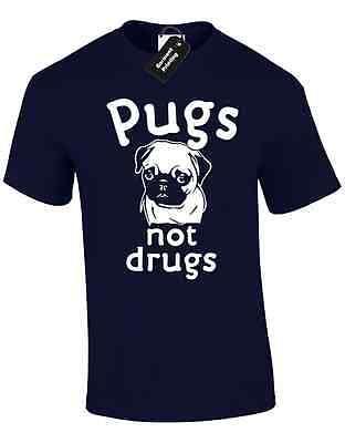 Pugs Not Drugs Mens T Shirt Funny Joke Dogs Novelty Gift Present