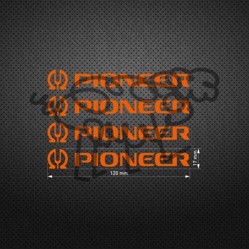 Pioneer O STICKER DIE CUT VINYL DECALS AUFKLEBER PEGATINAS AUTOCOLLANT 4 pcs