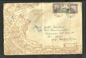 Britannique-de-l-039-Afrique-du-Sud-Argentine-illustre-Cover-Bloemfontein-annuler-VF