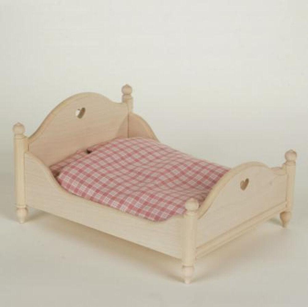 Puppenhaus Bett Doppelbett natur Bodo Hennig 24408