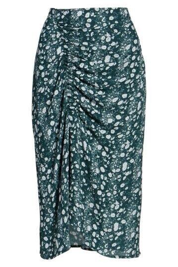 New Lewit Green Pondepink Clara Floral Print Skirt Size 12 MSRP  299